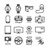 Icons set of technology design. — Stock Vector
