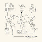 Infographic Education Outline concept. — Vector de stock