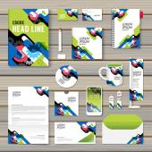 Set of corporate identity template — Stockvektor