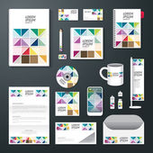 Set of corporate identity template — Stock Vector