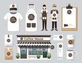 Cafe set of corporate identity — Stok Vektör