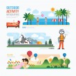 Parks and outdoor activity Infographic. — Stock Vector #77239618