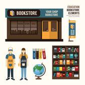 Bookstore set design — Stock Vector