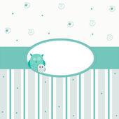 Owl party invitation card — Stock Vector