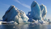 Iceberg floating — Stock Photo