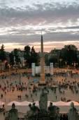 Demonstration in Piazza del Popolo, Rome — Stock Photo