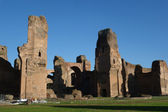 Ancient ruins.Caracalla Baths in Rome — Stock Photo