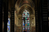 Ancient Santo Stefano cathedral in Prato — Stockfoto