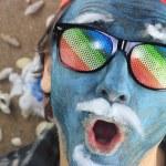 Crazy blue man — Stock Photo #63696881