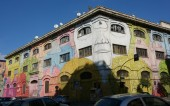 Mural builidng in Rome — Stock Photo