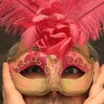 Man wearing a Pink Mask — Stock Photo #67982511