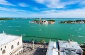 View of San Giorgio island, Grand canal, San Marco, Venice — Стоковое фото