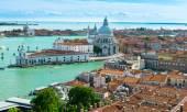 View of Venice, Grand canal, Basilica Santa Maria della Salute — Stock Photo