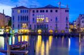 Night view of Grand Canal in Venice — Стоковое фото