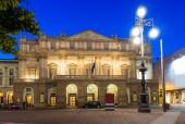 Teatro alla Scala (Theatre La Scala) at night in Milan — Стоковое фото