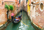 Canal with gondola in Venice — Stock Photo