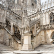 Roof of Duomo cathedral in Milan — Stock Photo #59177361