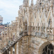 Roof of Duomo cathedral in Milan — Stock Photo #59177373