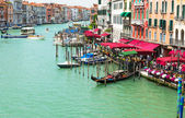 View of Grand Canal of Venice from Bridge Rialto, Venice — Stock Photo