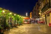Embankment of Grand Canal in Venice at night — Stock Photo