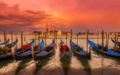 Sunset in San Marco square, Venice — Stock Photo