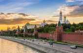 Sunset view of Kremlin in Moscow — Stock Photo