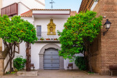 Poble Espanyol - traditional architectures in Barcelona, Spain — Stock Photo