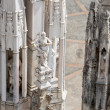 Roof of Duomo cathedral, Milan, Italy — Stock Photo #77408586