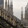 Roof of Duomo cathedral, Milan, Italy — Stock Photo #77408590