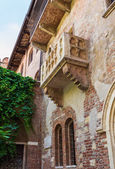 The Famous Balcony of Juliet Capulet Home in Verona, Italy — Stock Photo