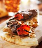Sirloin steak mini kabobs — Foto Stock