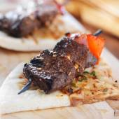 Sirloin steak mini kabobs — Foto de Stock
