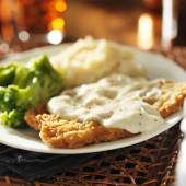 Country fried steak — Stock Photo