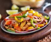 Mexican chicken fajitas — Stock Photo