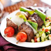 Steak and vegetable — Stock Photo