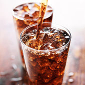 Glass cup of cola — Stock Photo