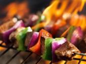 Steak shish kabobs — Stock Photo