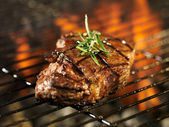 Steak cooking — Stock Photo