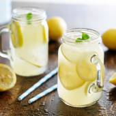 Lemonade in jar — Stock Photo