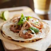 Mexican tacos with carnitas — Foto Stock