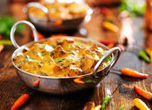 Saag paneer curry dish — Stock Photo