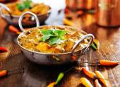 Saag paneer curry dish — Stock Photo