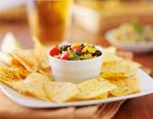 Mexican fire roasted corn and black bean salsa — Stock Photo