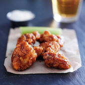 Boneless barbecue chicken wings — Stock Photo