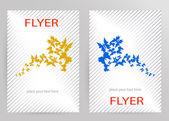 Abstract Brochure Flyer design vector template in A4 size — Stock Vector