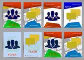 Abstract Brochure Flyer design vector template — Stockvektor