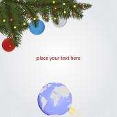 Christmas vector illustration — Stock Vector