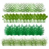 Grass, shrubs — Stock Vector