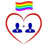 Symbols of homosexuality — Stock Vector