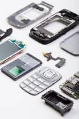 Disassembled mobile phone — Stock Photo